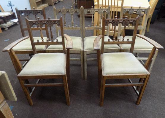 6 vintage ercol chairs
