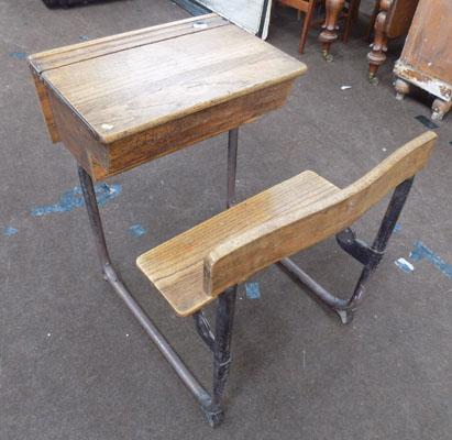 Vintage oak child's desk