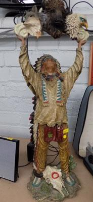 Red Indian Witch Doctor figure