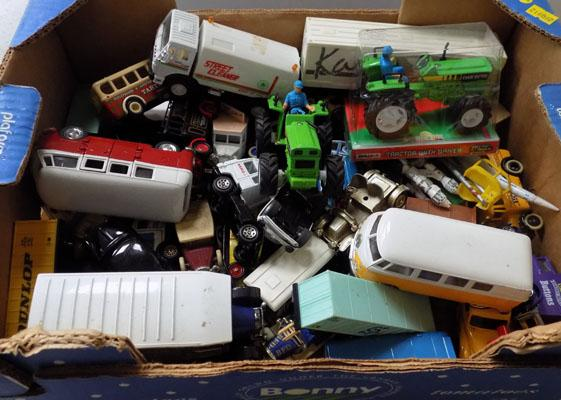 Box of diecast various makes incl; Corgi