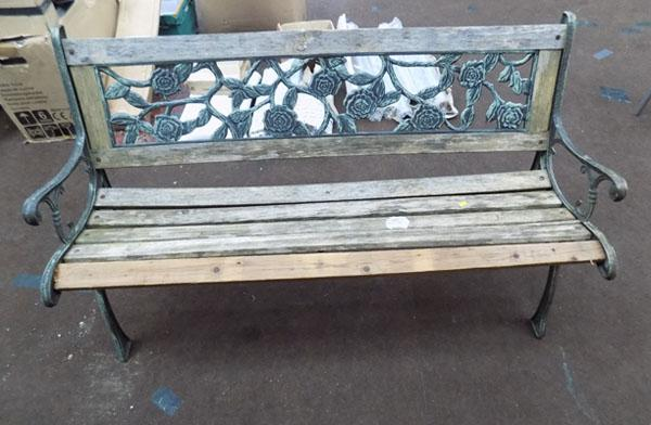 Garden bench - cast iron bench ends