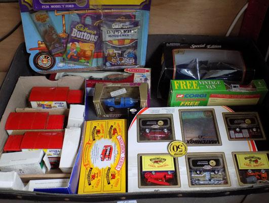 Box of die-cast models