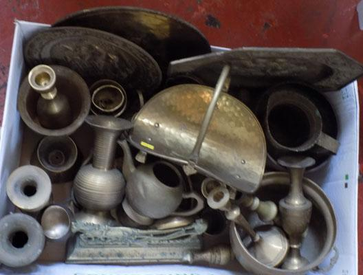 Large box of brass and brass plate