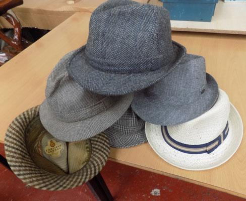 Selection of vintage hats inc: Christy's of London
