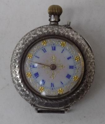 Small silver pocket watch