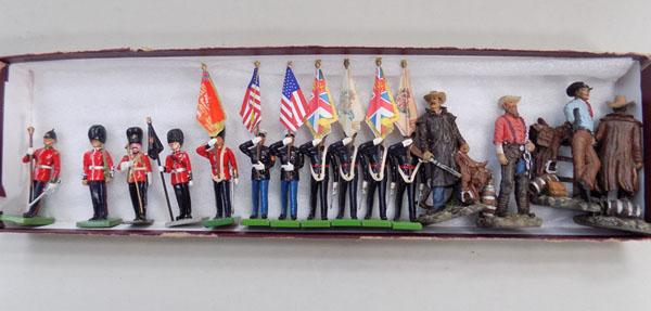 Box of English & American soldiers