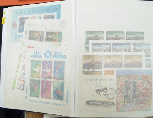 Large stockbook of mint stamps, miniature sheets etc.