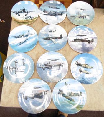 Collection of Bone China Second World War remembrance plates