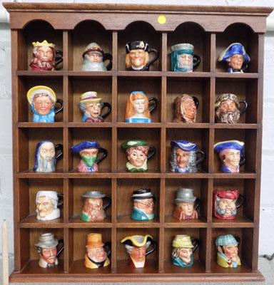 Selection of miniature character jugs from literature, signed by maker