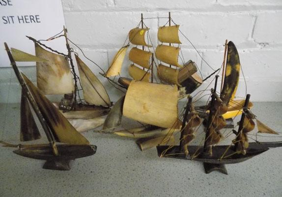 5 horn and shell ships