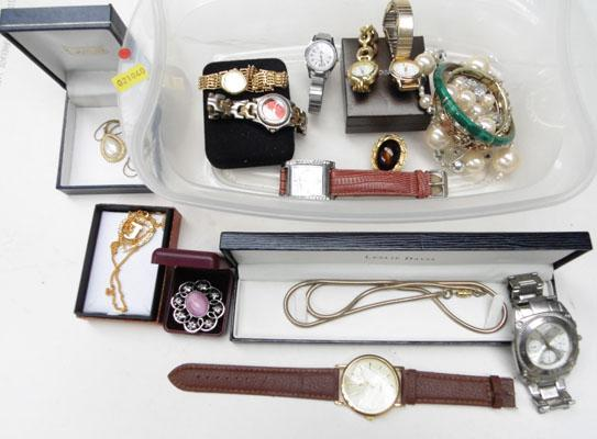 Selection of watches and jewellery