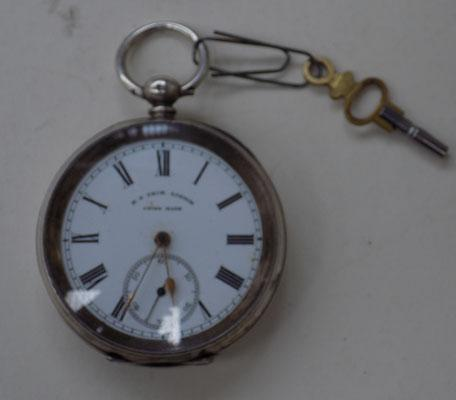 Silver pocket watch - H Price of London