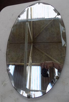 Oval mirror - Art Deco style