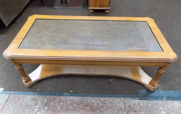 Large Bergere Coffee Table