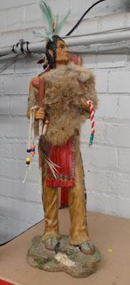 Red Indian Figure