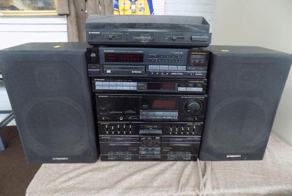 Pioneer stacking system with speakers