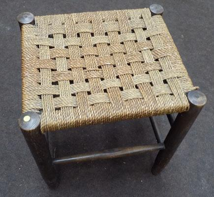 Country basket weave top stool