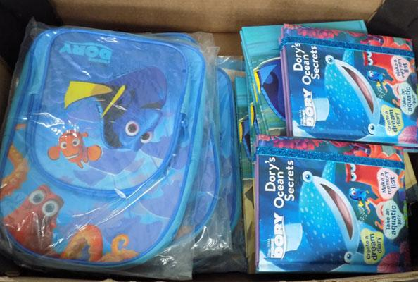 Box of Finding Dory items (16)