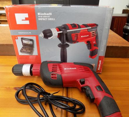 Einhell 240 volt drill with attachments - working order