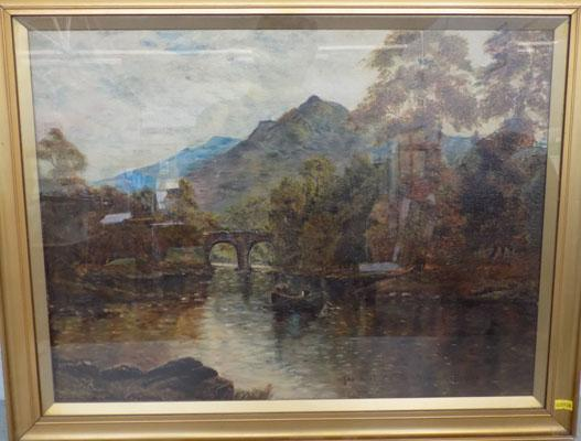 Picture 'Meeting of the Waters' by L.H.M. - on canvas