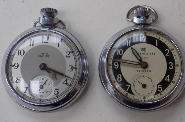 2 pocket watches - Empire and Ingersoll
