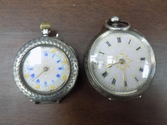 2x Solid silver 930 pocket watches