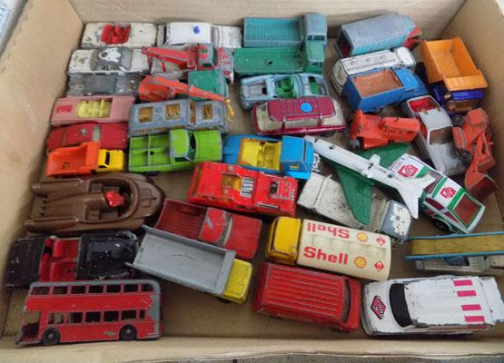 Tray of 1960s/70s Matchbox diecast cars