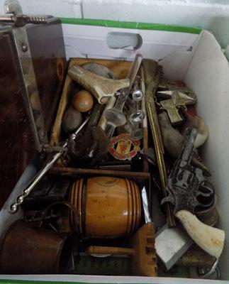 Quantity of vintage collectables , treen, lighters etc.