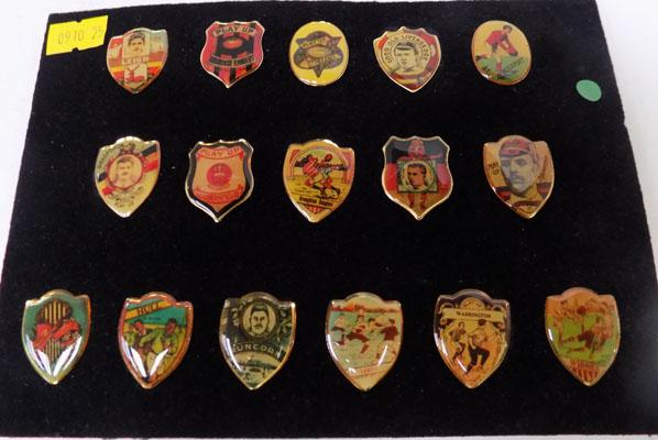 Rugby League Baines style pin badges