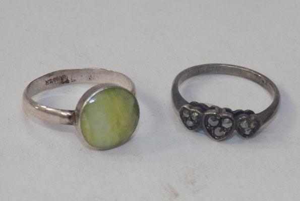 2 x sterling silver rings