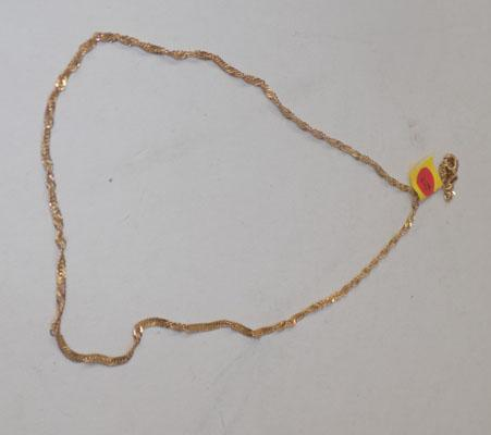 9ct gold rope twist necklace