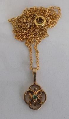 Gold 3.75 pendant on chain