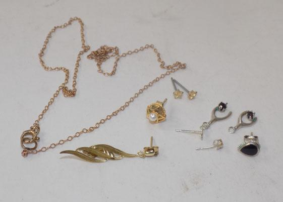 Selection of scrap gold and silver