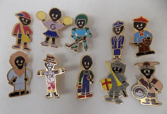 Selection of Gollie collectable badges