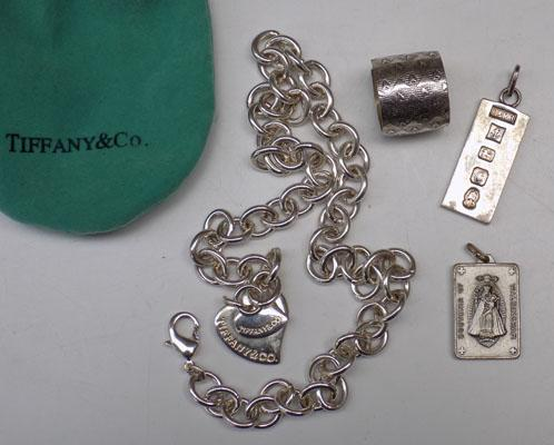 Selection of jewellery incl; silver ingot