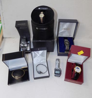 Large selection of watches, incl. boxed watches