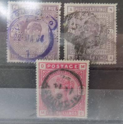 Queen Victoria stamps - high values - x3