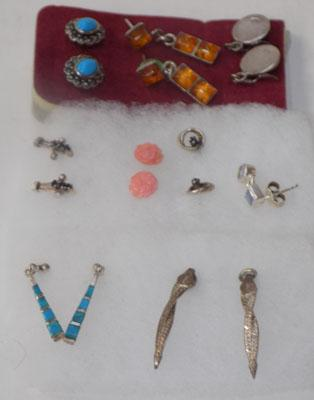 Large selection of sterling silver earrings
