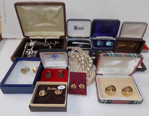 Large selection of cuff-links and other accessories