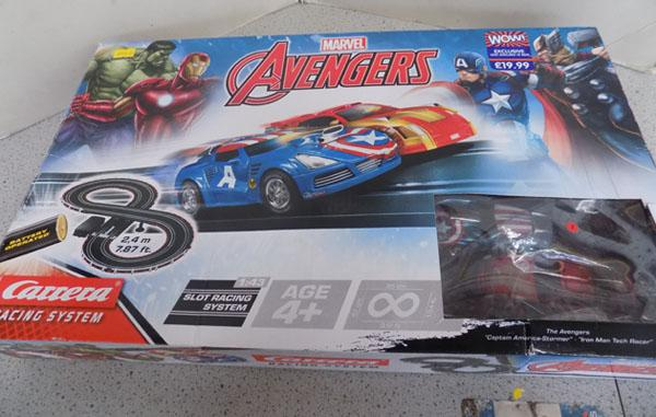 Scalextric Pro Driver/ Carrera Marvel Avengers (Both complete)