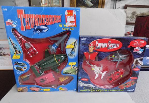Captain Scarlet and Thunderbirds boxed diecast sets