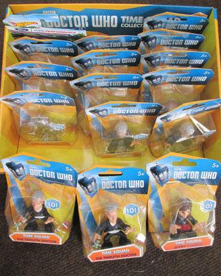 Box of Dr Who time squad collectable figures