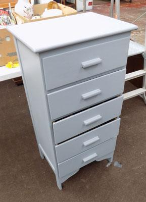 "Set of 5 drawers - 41"" tall"