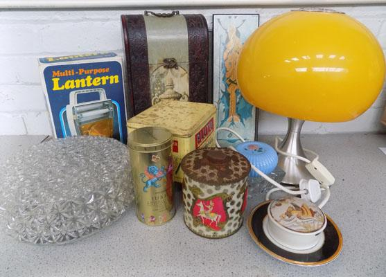 Box of vintage and retro items