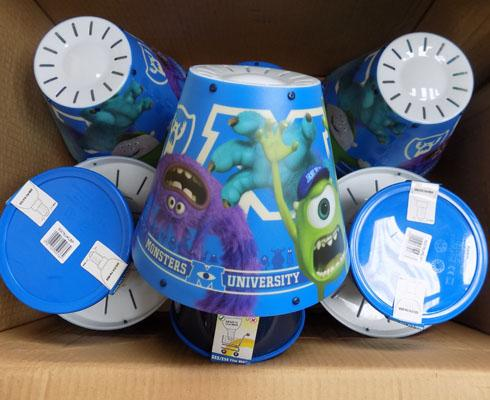 2x Boxes of Monster's University lamps