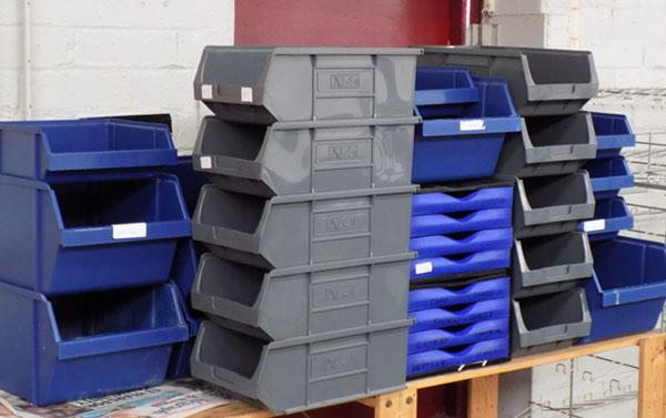 Large collection of storage/stacking trays