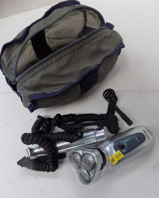 Rotary rechargeable shaver and accessories