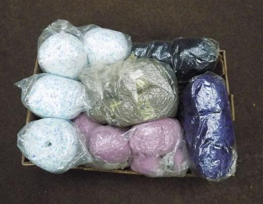 Box of new wool