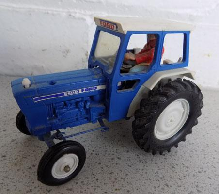 Britains 1970's Ford 6600 tractor with original driver