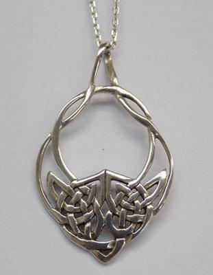 Sterling 925 silver tribal style necklace